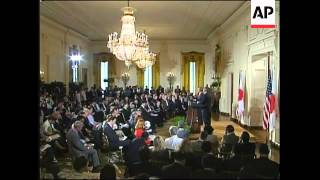 Bush and Koizumi comment on NKorea, US beef and Elvis