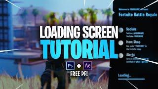 Tutorial de tela de carregamento de Fortnite animado (FREE PSD + AEP)
