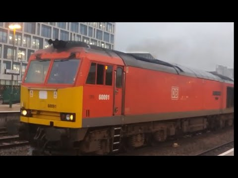 DB Schenker 60091 leaves Cardiff Central