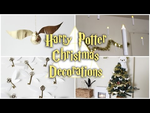 DIY HARRY POTTER CHRISTMAS DECORATIONS⚡️FLOATING CANDLES