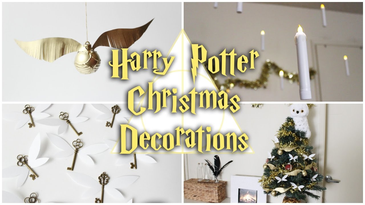 diy harry potter christmas decorationsfloating candles flying keys golden snitch rememberall