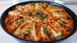 ГРЕЧКА с РИСОМ в ОДНОМ блюде ВКУСНО и СЫТНО Ужин на всю семью в духовке