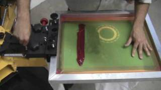 The Tape Trick on a Vastex V-1000 manual screen press.