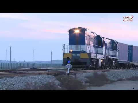 Ukraine-Georgia-Azerbaijan-Kazakhstan-China container train arrives in Baku Port
