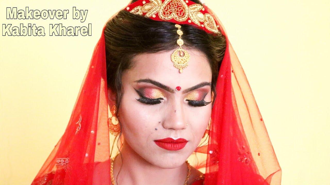 NEPALI BRIDAL MAKEUP/REAL NEPALI BRIDE GETTING READY