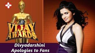 divyadarshini apologies to fans   vijay awards 2015   dd   vijay tv   latest cinema news
