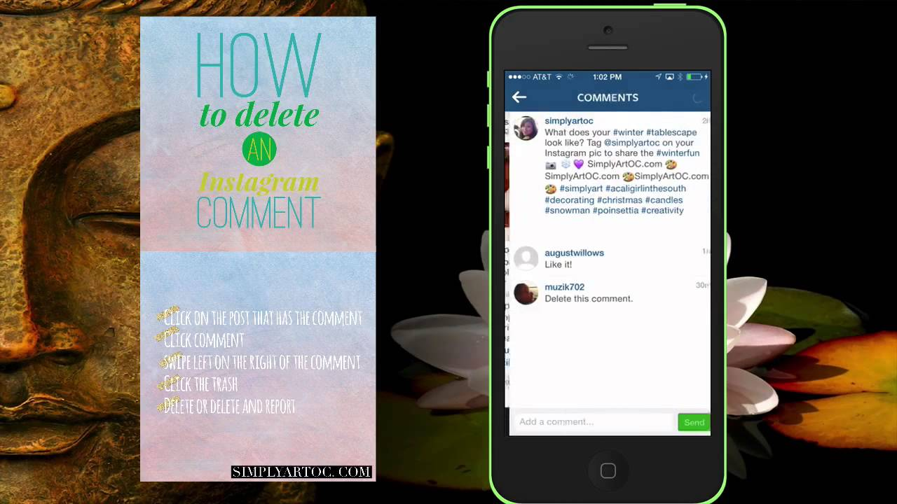 How do you delete comments on Instagram?