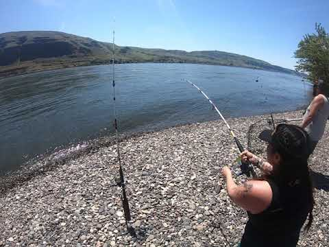 Yakama Nation Couple Fishing For Spring Chinook In The Columbia River Together.