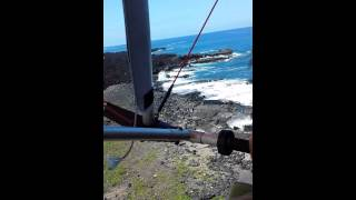 Hang gliding up the coast of hawaii