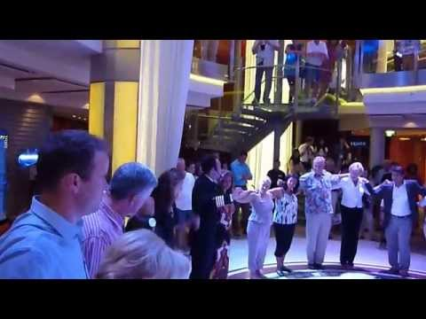 CELEBRITY SOLSTICE  GREEK DANCE