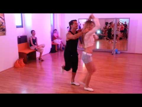 Oliver Pineda & Kate Gutnichenko - Salsa Partnerwork on 2 @ Mi Manera dance studio - Vienna -