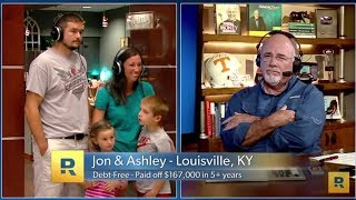 Jon and Ashley's Debt Free Scream on The Dave Ramsey Show! - Traveling Graces