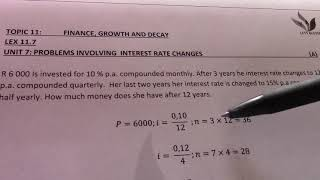 LEX 11 7 GRD 10 PROBLEMS INVOLVING INTEREST RATE CHANGES