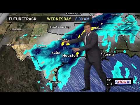 Houston forecast for Monday evening