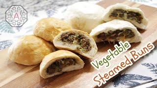 Korean Steamed Buns with Veget…