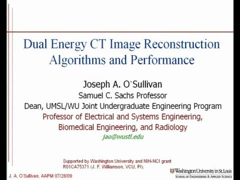 Dual Energy CT Image Reconstruction Algorithms and Performance