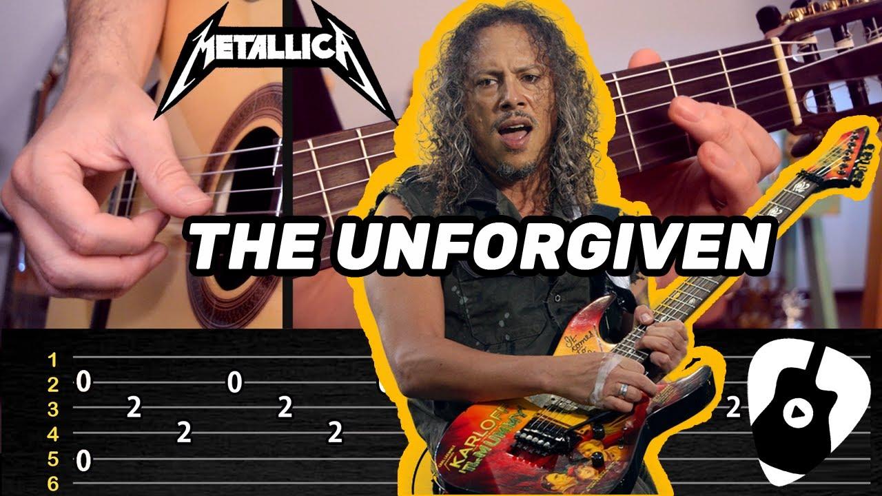 Como Tocar THE UNFORGIVEN en Guitarra Acústica (Canción de Metallica) | Tablatura y Acordes TCDG