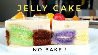No bake Jelly cake  Instant cake (simple cake recipe)