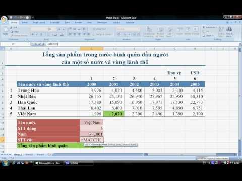 Excel - Tìm kiếm dữ liệu trong bảng 2 chiều (Index & Match) | Hanh Le