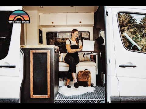 Couple Builds 2017 4x4 Sprinter Van Conversion To Live & Work On The Road Fulltime