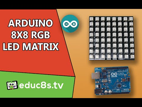 Arduino Tutorial: 8x8 RGB Led Matrix with WS2812 driver with Arduino Uno from Banggood.com