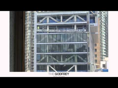 The Godfrey Hotel Chicago Glass Curtain Window Installation Floor 5-9