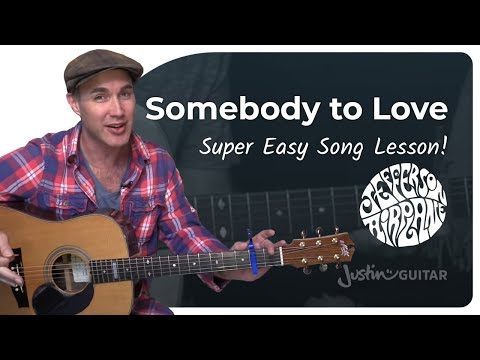 Somebody To Love - Jefferson Airplane - Easy Beginner Guitar Lesson (BS-306) How to play guitar