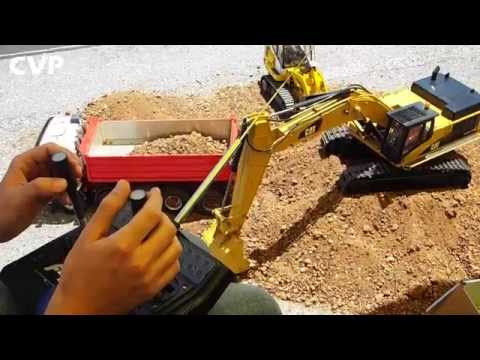 CVP - Operating RC Caterpillar 345 D Excavator