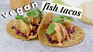 Beer battered cauliflower 'fish' tacos 🌮