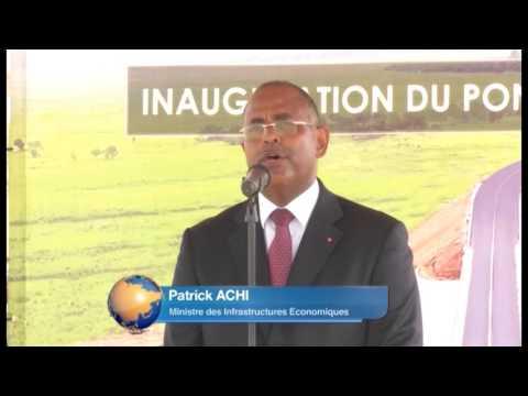 Infrastructure: Inauguration du pont de Béoumi par le président Ouattara