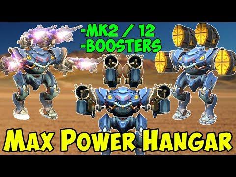 Mk2 /12 & All Boosters Max Power War Robots Hangar Gameplay - WR