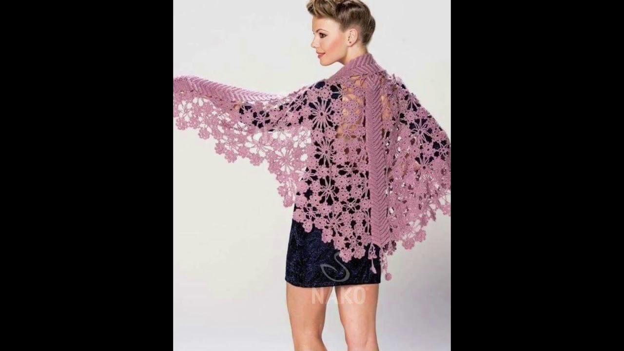 Serrado Indiferencia capitalismo  Chal para mujer tejido en crochet o ganchillo - YouTube