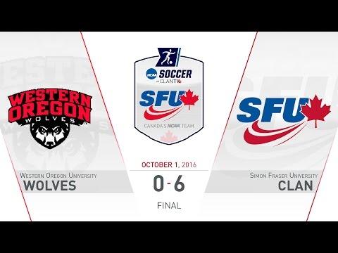 SFU Clan Women's Soccer: SFU vs. WOU - October 1, 2016