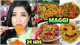I only ate MAGGI for 24 HOURS Challenge!! Nilanjana Dhar