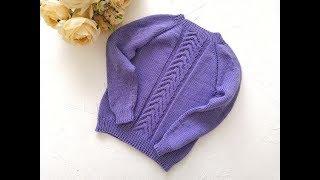 детский свитер спицами регланом сверху