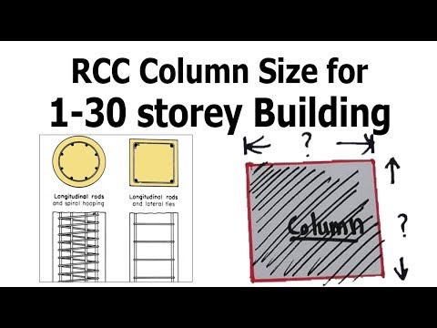 Standard Size of RCC Column for 1-30 storey building - YouTube