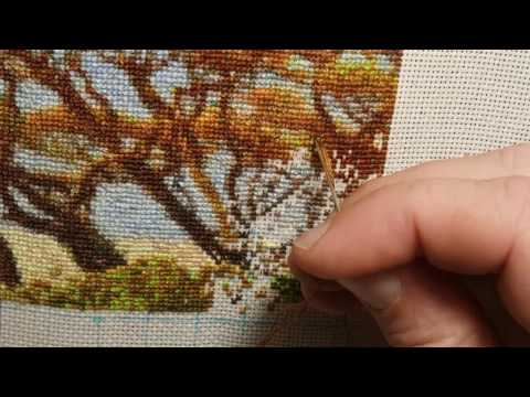 Flosstube: cross stitching HAED Lion and Cub #6  - stitch with me