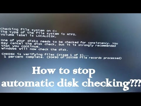 Checking file system on c,HOW TO STOP DISk CHECKING??SOLVED. 100% WORKING