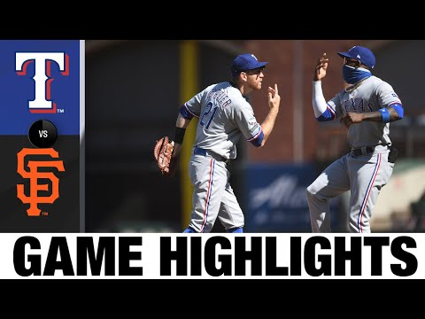 Joey Gallo, Shin-Soo Choo Power Rangers Past Giants   Rangers-Giants Game Highlights 8/2/20