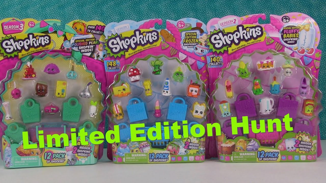 Shopkins Limited Edition Hunt Season 1 2 3 New Characters 12 Pack Opening
