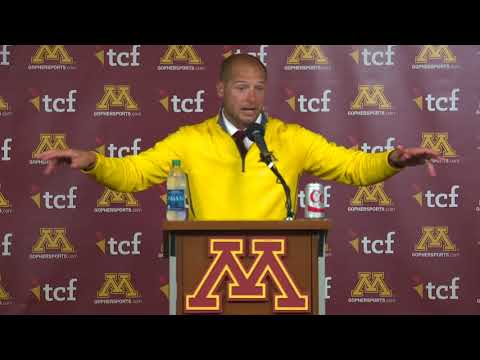 Press Conference: P.J. Fleck on 34-3 Win Over Middle Tennessee