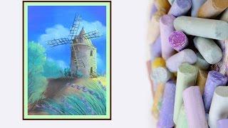 Видео урок Рисуем Мельницу Пастелью #Dari Art(Продолжаю серию видео уроков по пастели! В этот раз предлагаю вам нарисовать частичку французского лета!..., 2015-01-29T15:06:09.000Z)