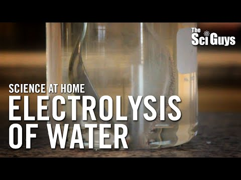 The Sci Guys: Science At Home - SE1 - EP1: Electrolysis Of Water