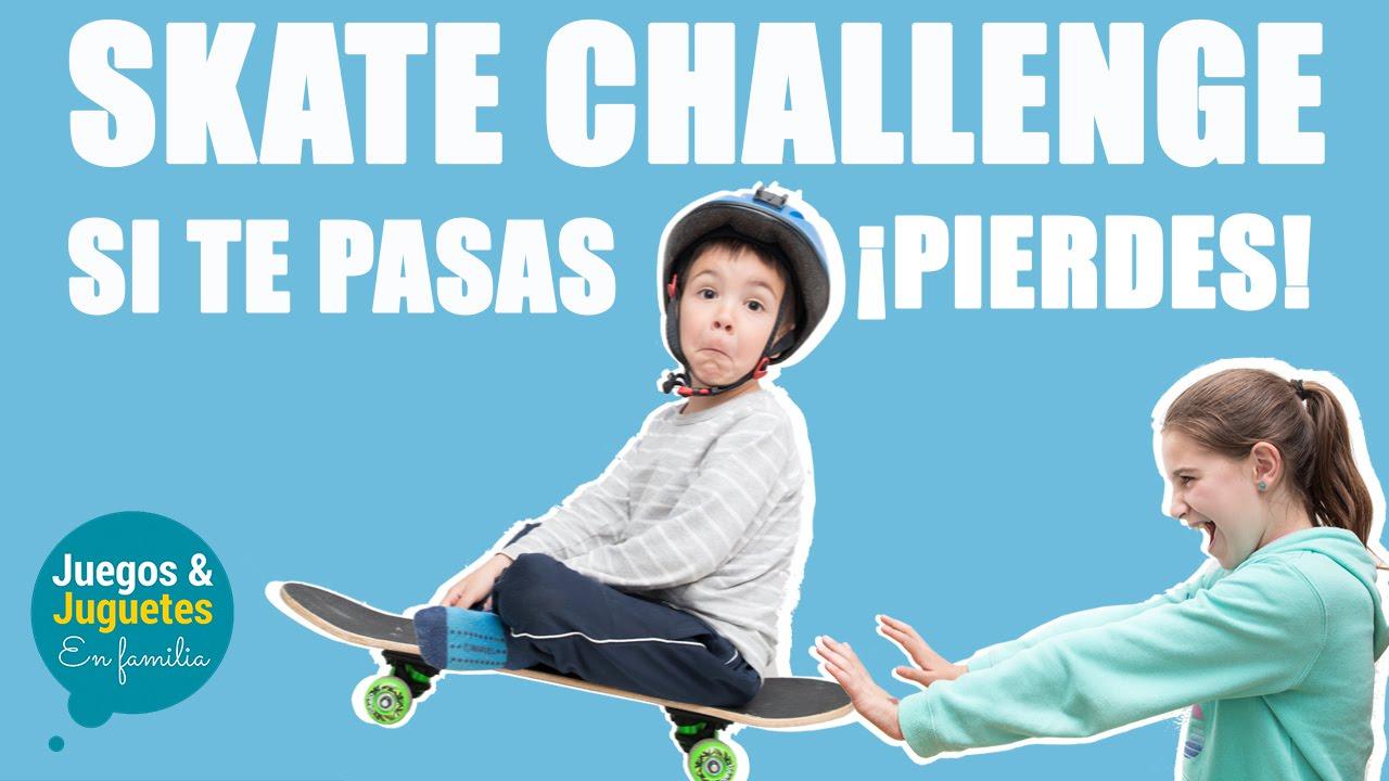 Skate Challenge Si Te Pasas Pierdes Reto Del Monopatin Youtube