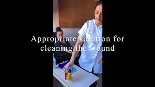 Wound Care Changing a Dressing