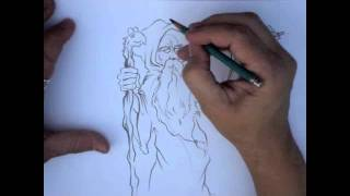 Draw With The Cartoon Dude - How To Draw A Wizard