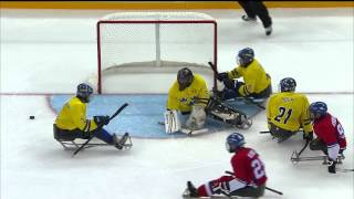 Czech Republic v Sweden full game | Ice sledge hockey | Sochi 2014 Paralympic Winter Games
