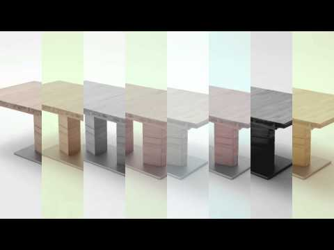 Extending Solid Wood Dining Table