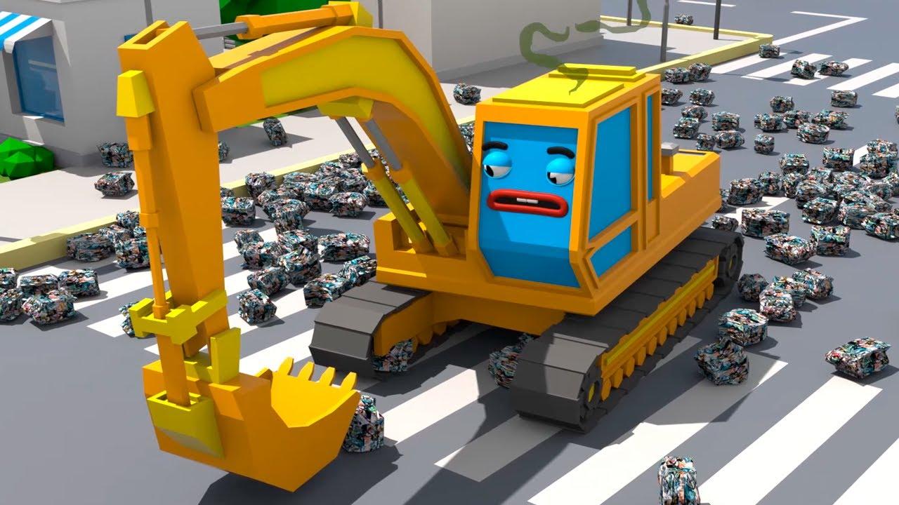 Monster Truck znów nabałaganił – Cars Town – Bajki dla Dzieci