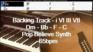 backing track   i vi iii vii   dm bb f c   popbelsynth 65bpm